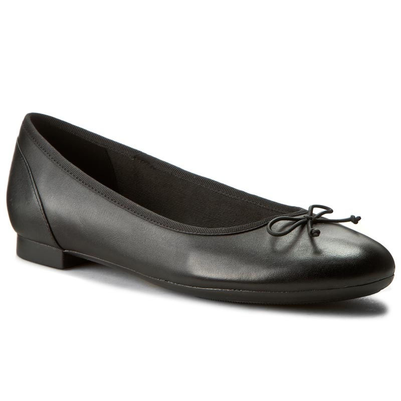 Balerinos CLARKS - Couture Bloom 261154854 Black Leather