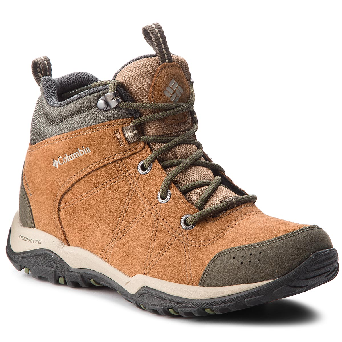 Turistiniai batai COLUMBIA - Fire Venture Mid Suede Waterproof BL1717 Elk/Ancient Fossil 286