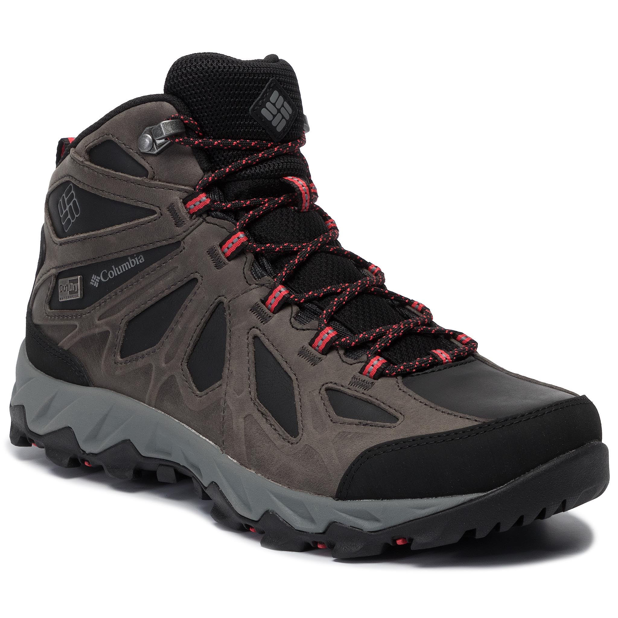 Turistiniai batai COLUMBIA - Lincoln Pass Mid Ltr Outdry YL5365 Black/Red Camellia 010