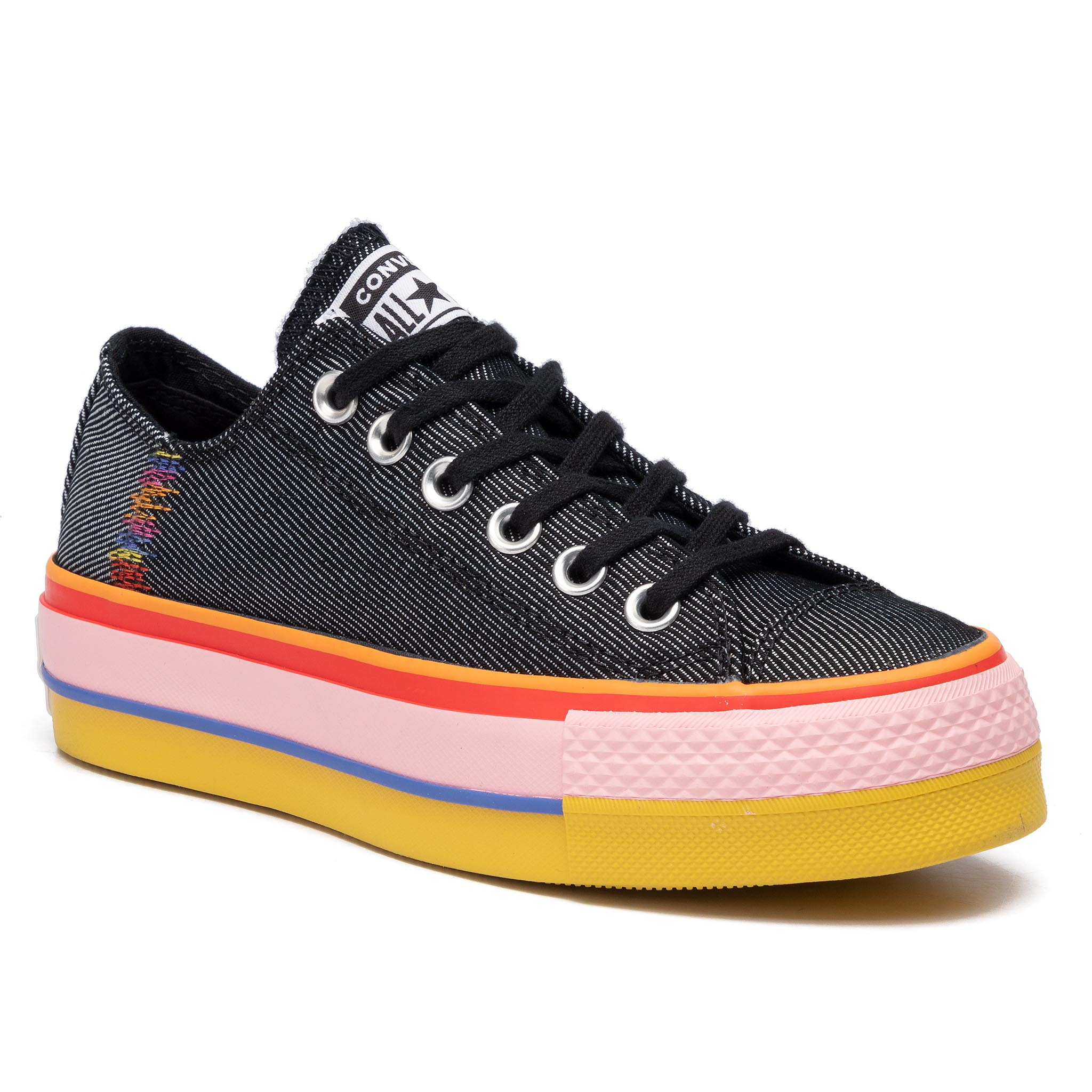 Tenisówki CONVERSE - Cast Lift Ox 564994C Black/White/Coastal Pink