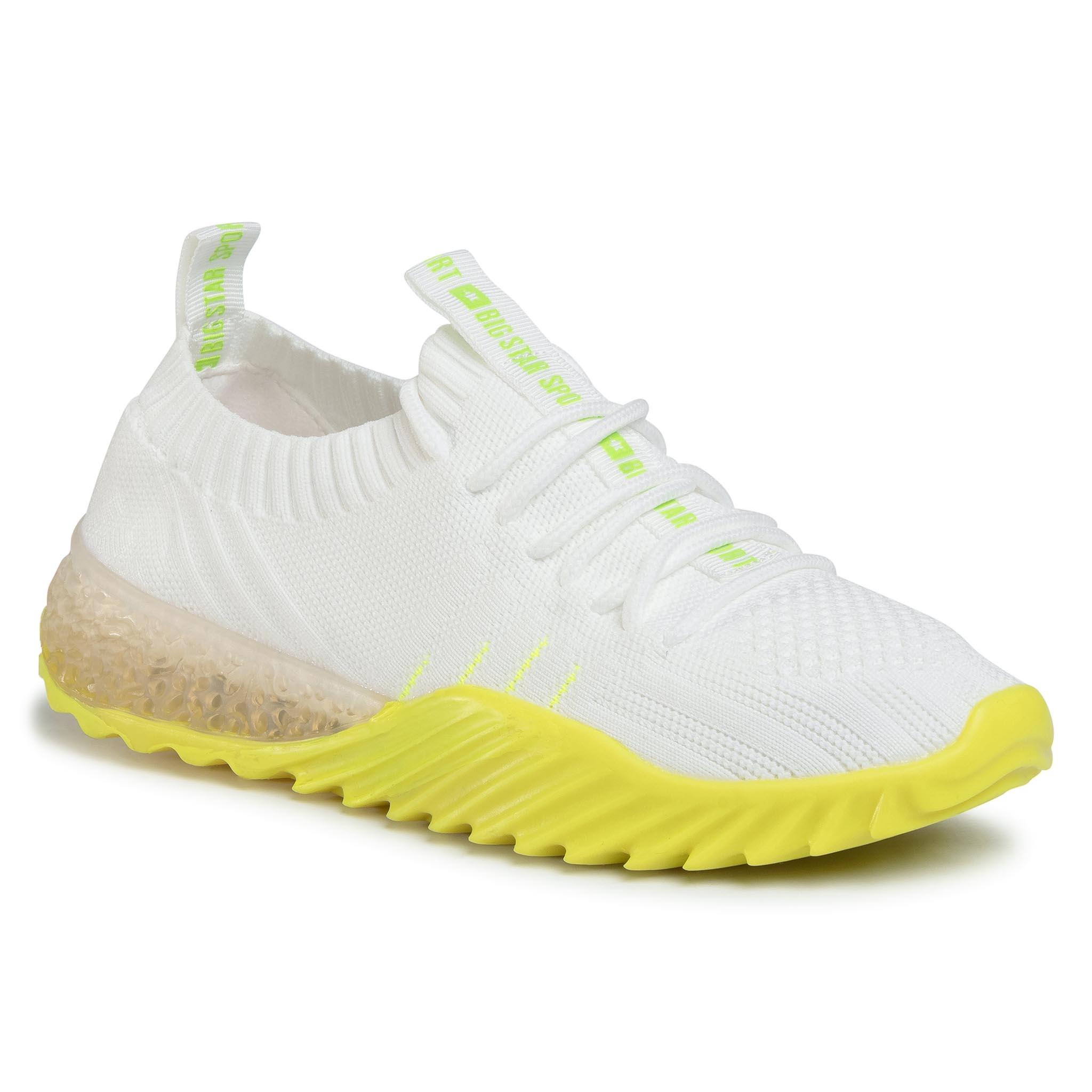 Sneakersy BIG STAR - FF274341 White/Yellow