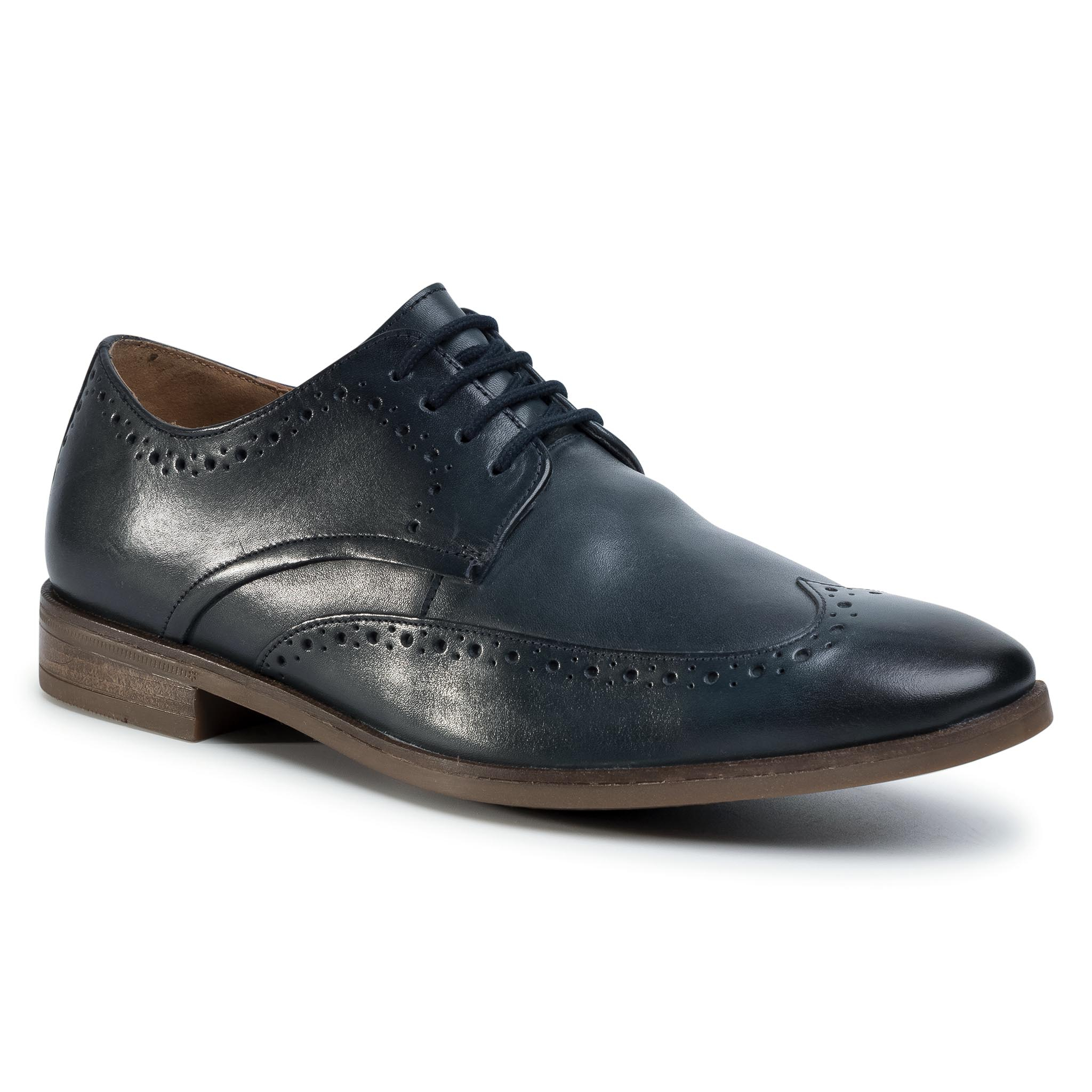 Batai CLARKS - Stanford Limit 261498407 Navy Leather