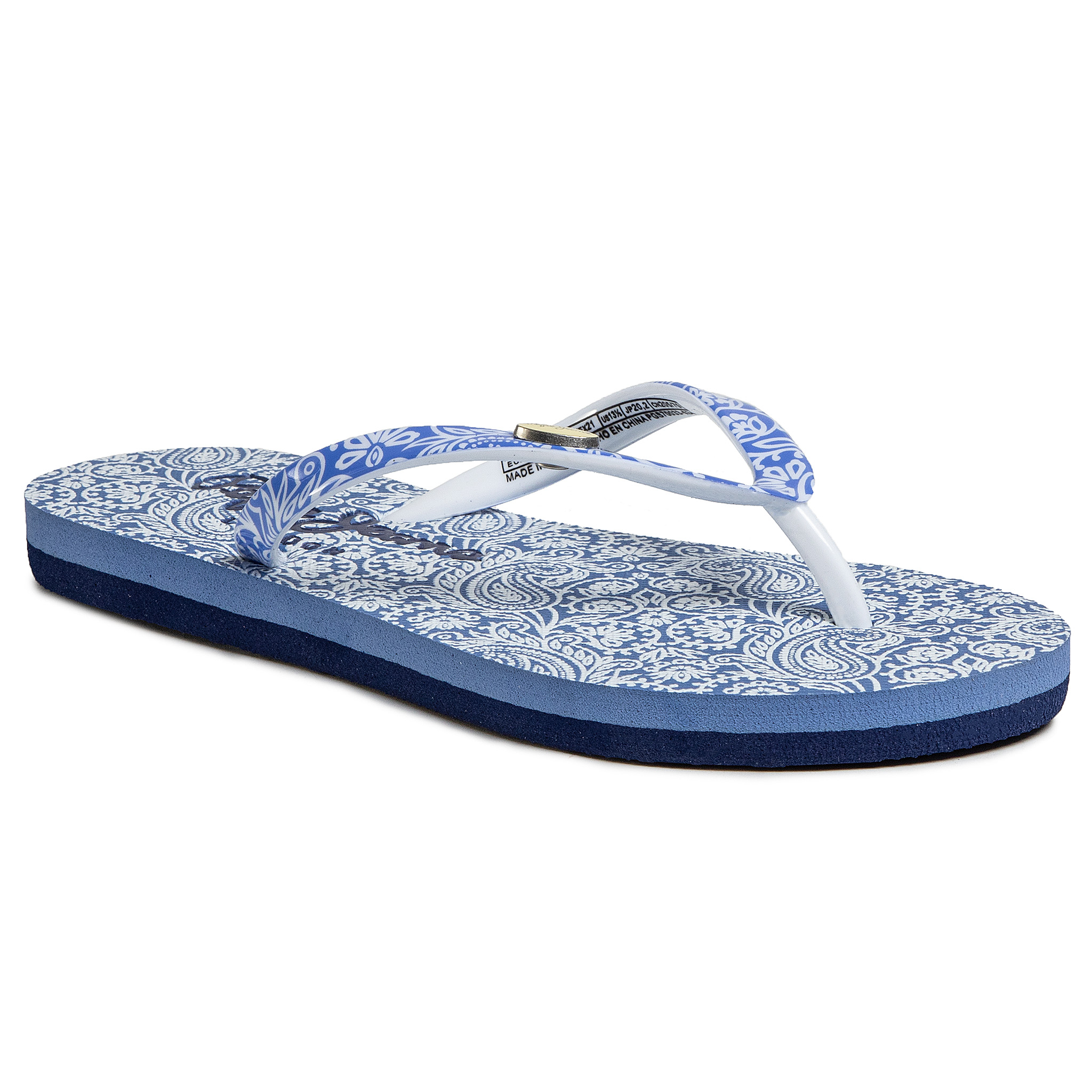 Šlepetės per pirštą PEPE JEANS - Beach All Over PGS70033 Summer Blue 534