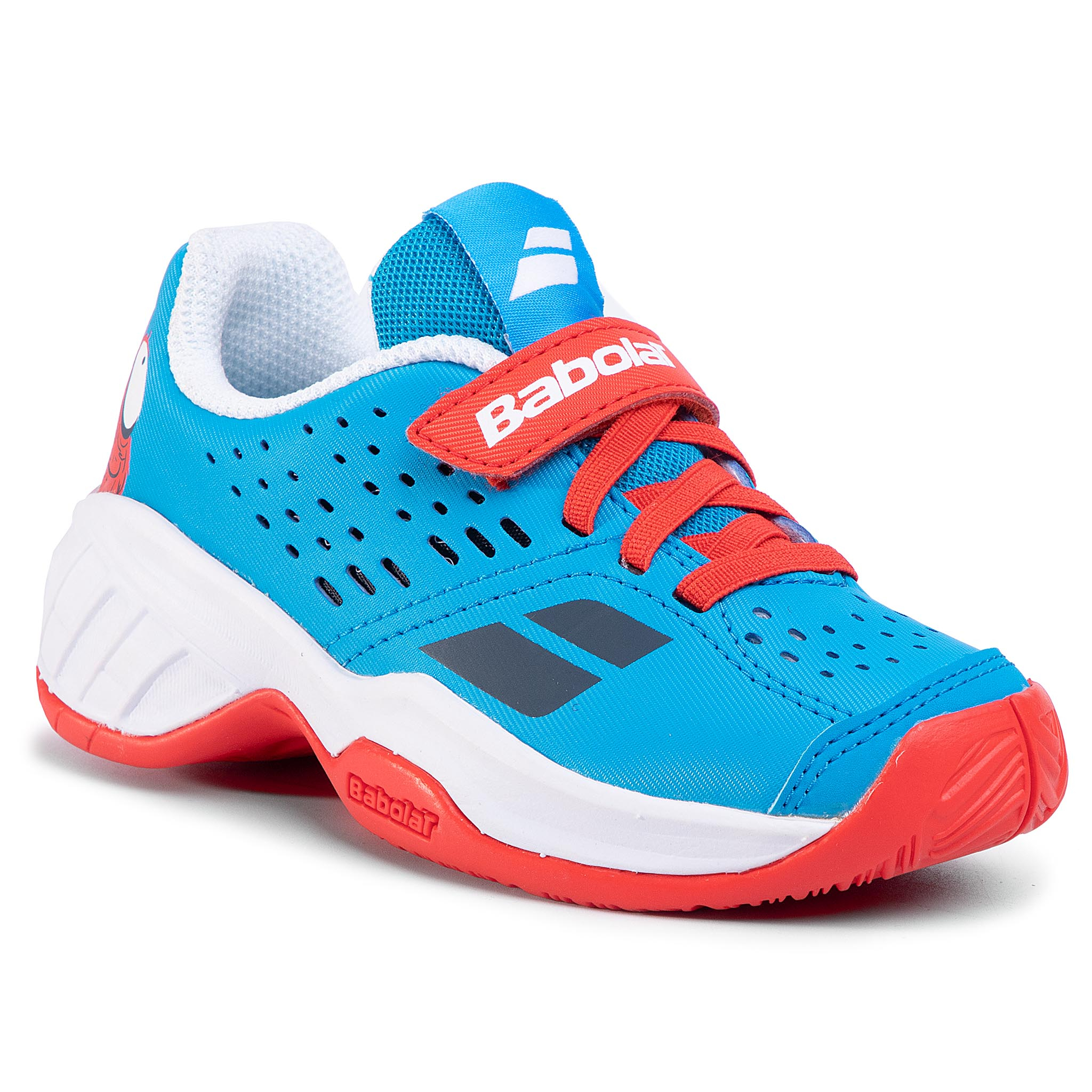 Batai BABOLAT - Pulsion All Court Kid 32S20518 Tomato Red/Blue Aster