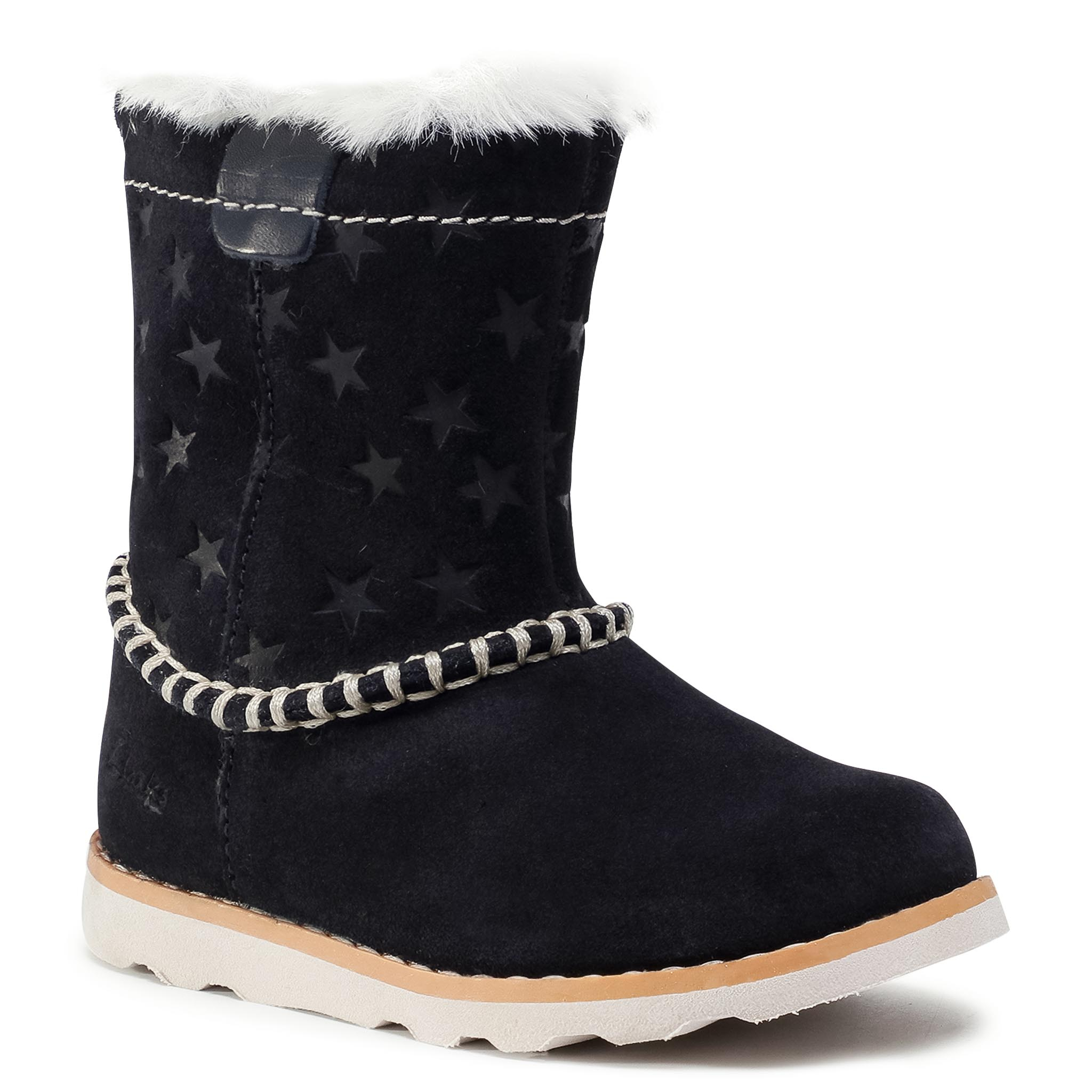 Ilgaauliai CLARKS - Crown Piper T 261515786 Navy Suede