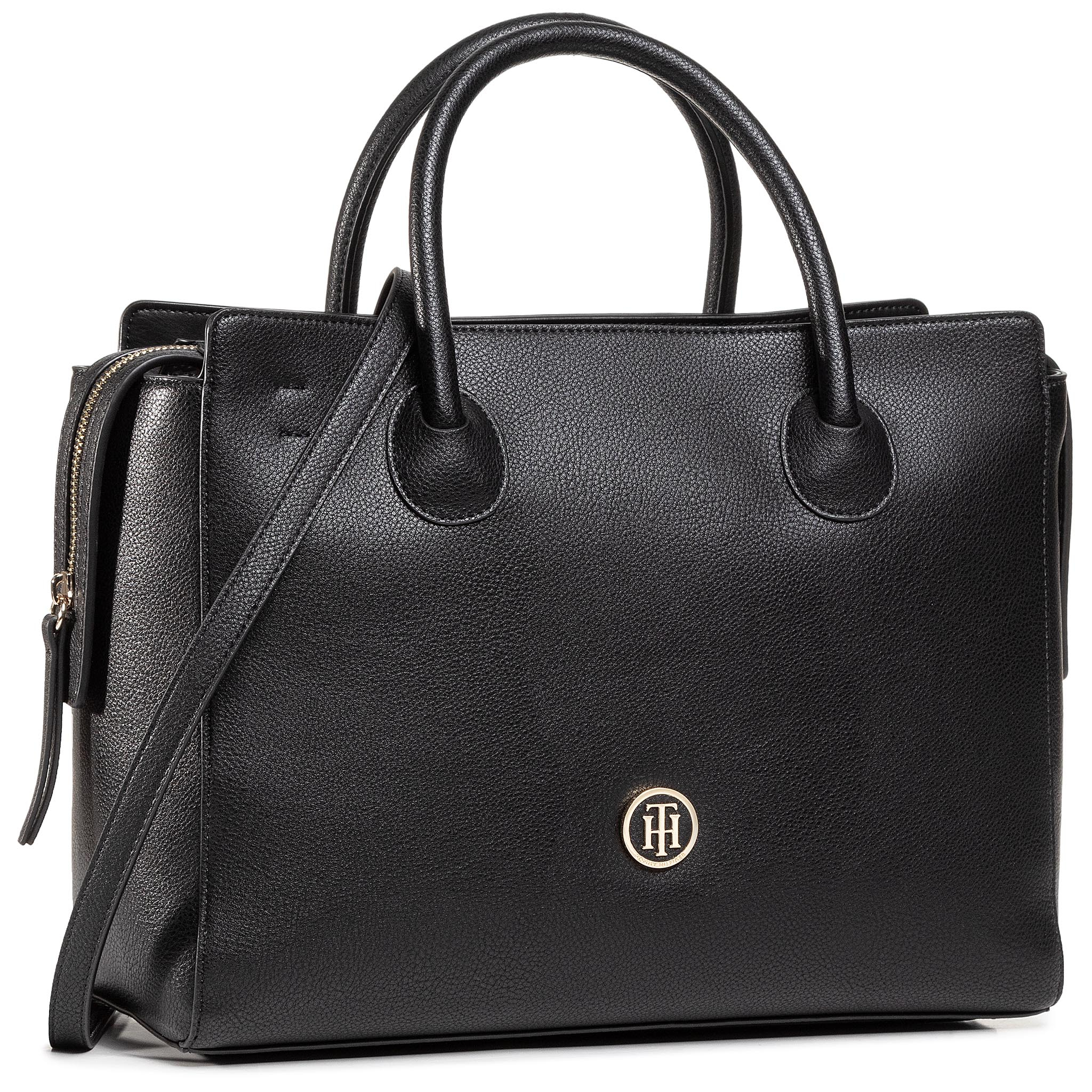 Rankinė TOMMY HILFIGER - Charming Tommy Satchel AW0AW08602 BDS