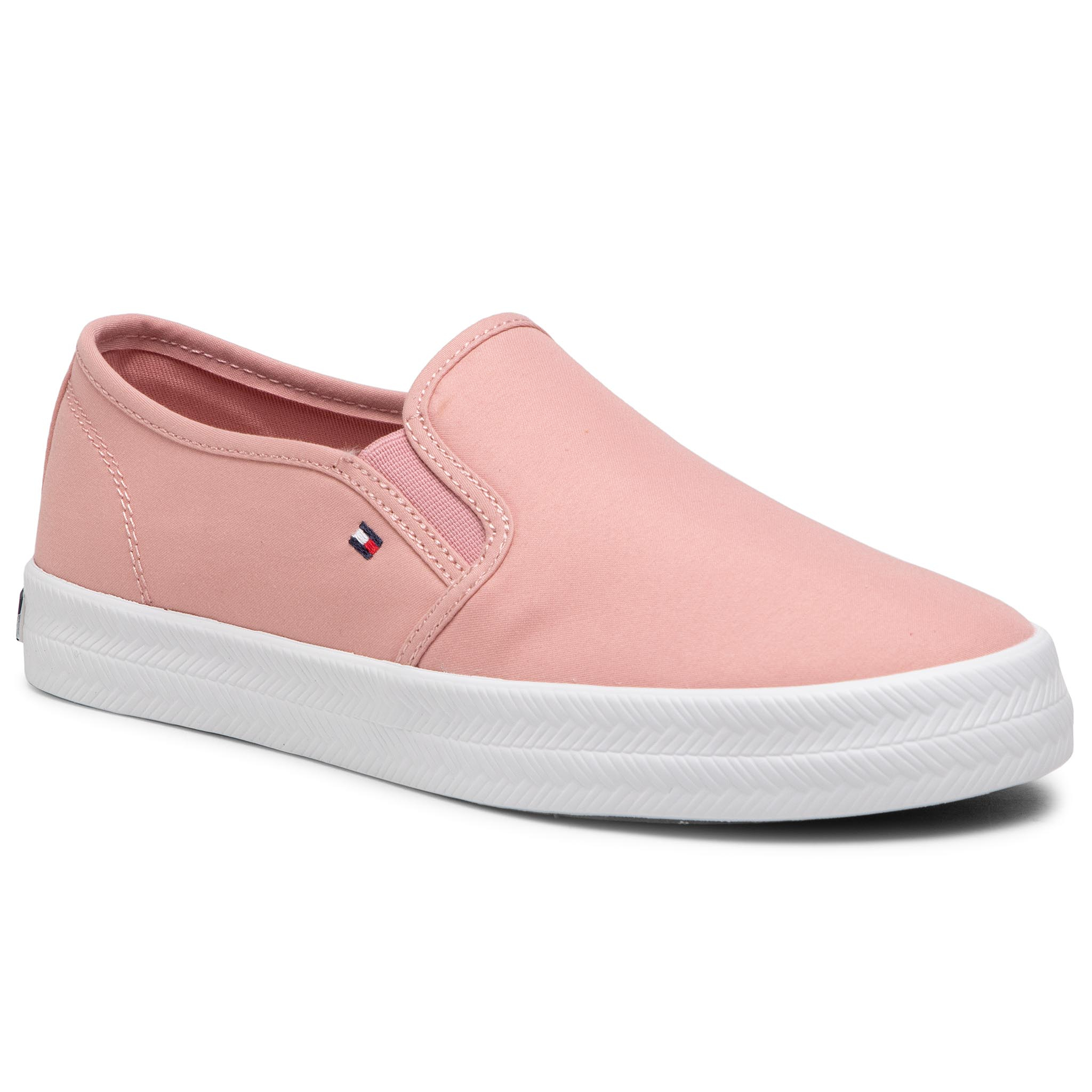 Kedai TOMMY HILFIGER - Essential Nautical Slip On FW0FW05535 Soothing Pink TQS