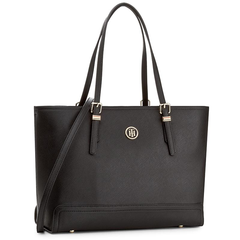 Rankinė TOMMY HILFIGER - Honey Med Tote AW0AW04547 002