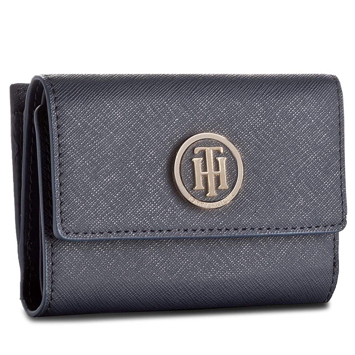 cd659fef9a34c Mały Portfel Damski TOMMY HILFIGER - Honey Med Flap Wallet AW0AW05197 906