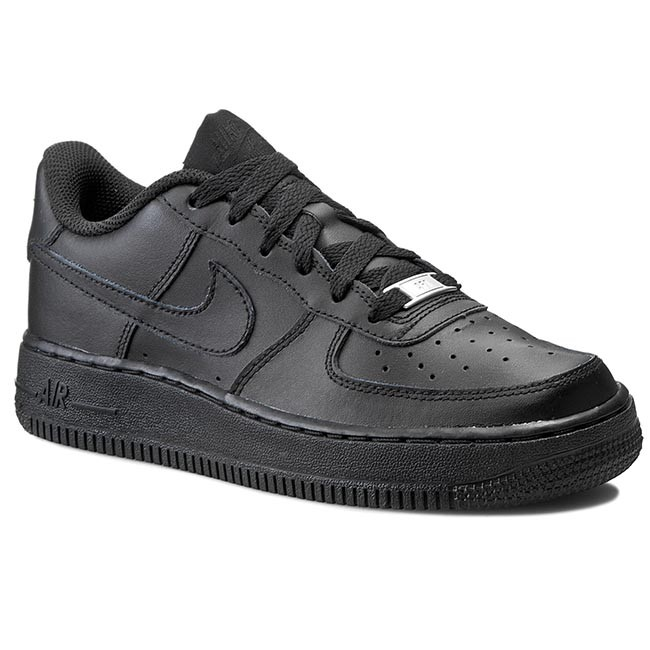 54aefbaed915 Buty NIKE - Air Force 1 (GS) 314192 009 Black/Black - Sznurowane ...