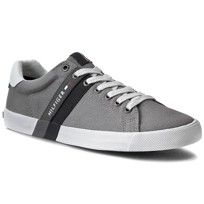 399762ea45dda Sneakersy TOMMY HILFIGER - Sm Volley 5C FM56820976 Light Grey 051 ...