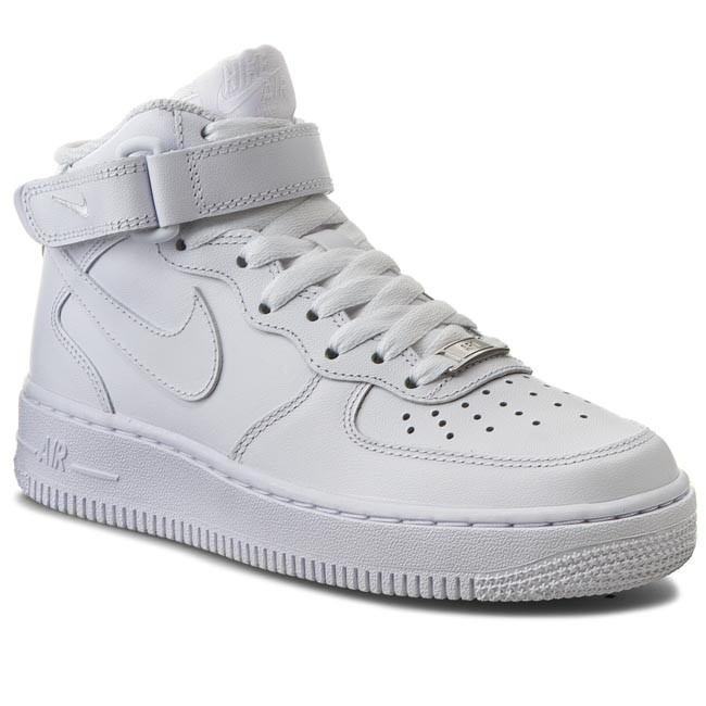 free shipping 447fb 41135 Buty NIKE - Air Force 1 Mid 07 LE 366731 100 WhiteWhite