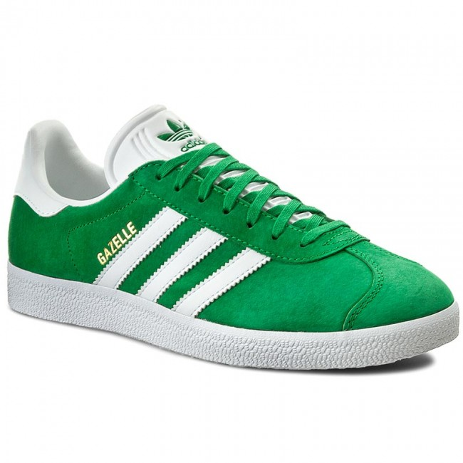 b72b51abb21a Buty adidas - Gazelle BB5477 Green White Goldmt - Sneakersy ...