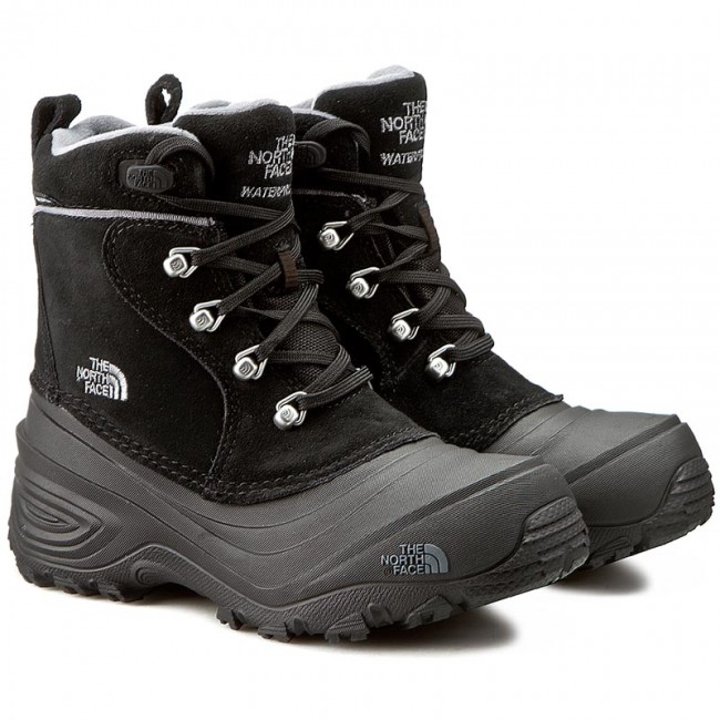 Śniegowce THE NORTH FACE Youth Chilkat Lace II T92T5RKZ2 TNF BlackZinc Grey
