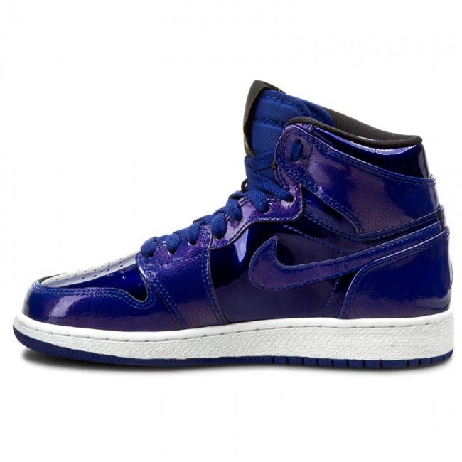 Buty NIKE Air Jordan 1 Retro High Bg 705300 420 Deep Royal BlueBlackWhite