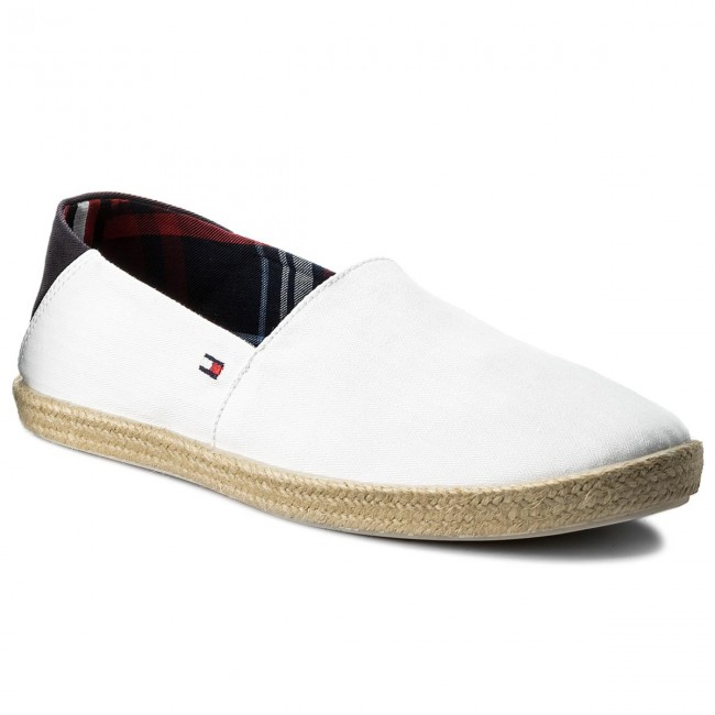 e2ed516cce2fb Espadryle TOMMY HILFIGER - Easy Summer Slip On FM0FM00569 White 100 ...
