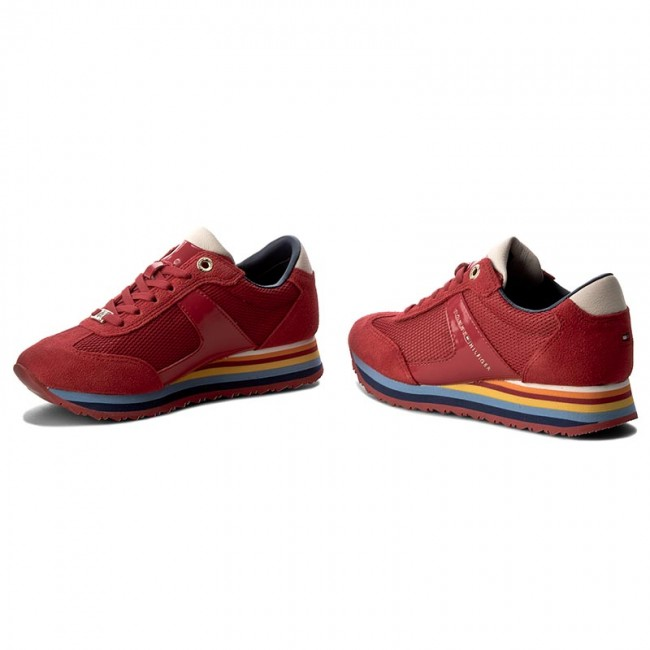 589146bfe5132 Sneakersy TOMMY HILFIGER - Angel 1C3 FW0FW00749 Tango Red 611 ...