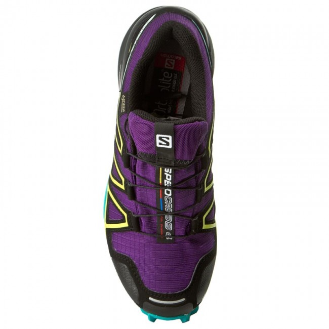 Shoes SALOMON Speedcross 4 Gtx W GORE TEX 392405 20 G0 AcaiDeep Peacock BlueSulphur Spring