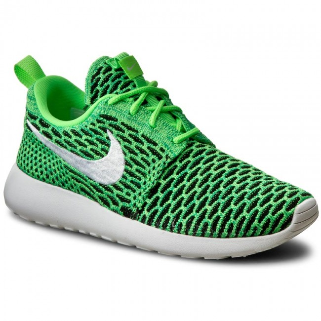 new styles 2cc5d 7d5b5 Buty NIKE - Roshe One Flyknit 704927 305 Voltage Green White Lcd Green
