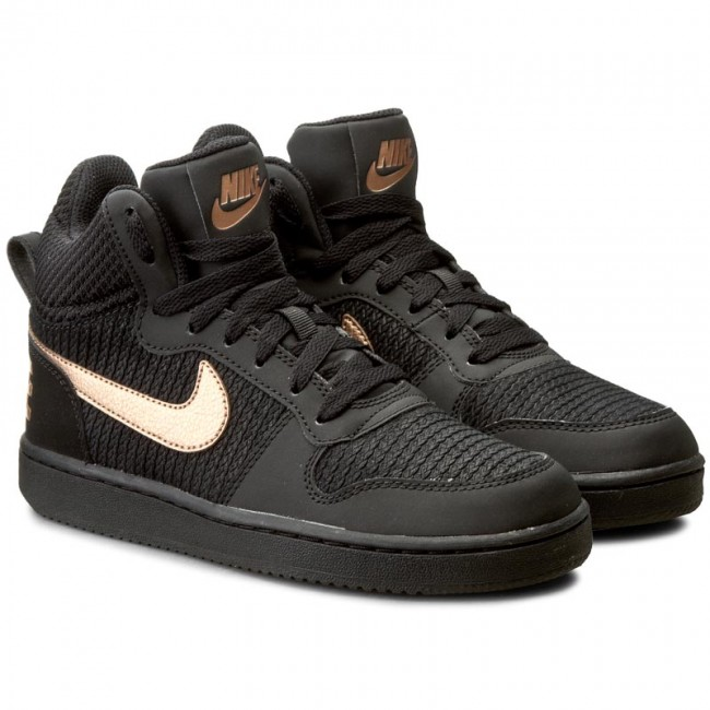 7ebd7d7970c6db Buty NIKE - W Nike Court Borough Mid Prem 844907 002 Black/Mtlc Red  Bronze/Black - Sneakersy - Półbuty - Damskie - eobuwie.pl