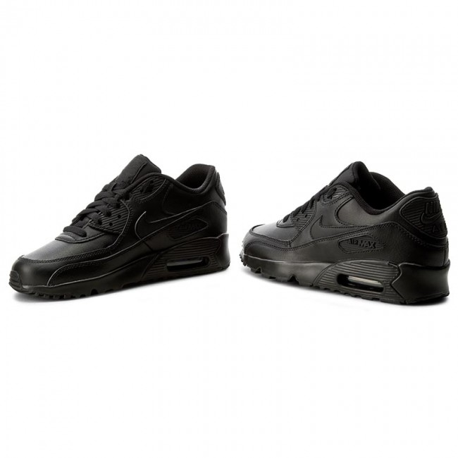 more photos 9c24a b1ade Buty NIKE - Air Max 90 Ltr (GS) 833412 001 Black/Black - Sneakersy ...