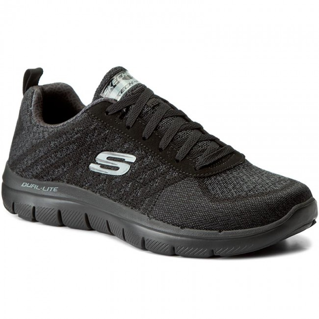 333cdf943bba01 Buty SKECHERS - Golden Point 52182/BBK Black - Fitness - Sportowe ...