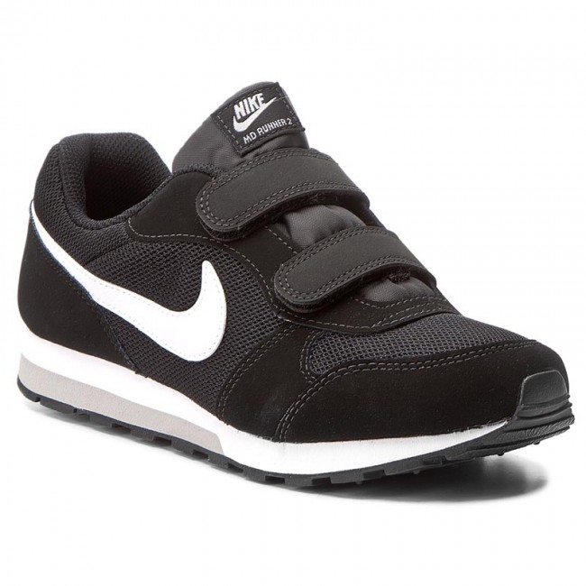 6b20a2cd458 Buty NIKE - Md Runner 2 (PSV) 807317 001 Black White Wolf Grey - Na ...