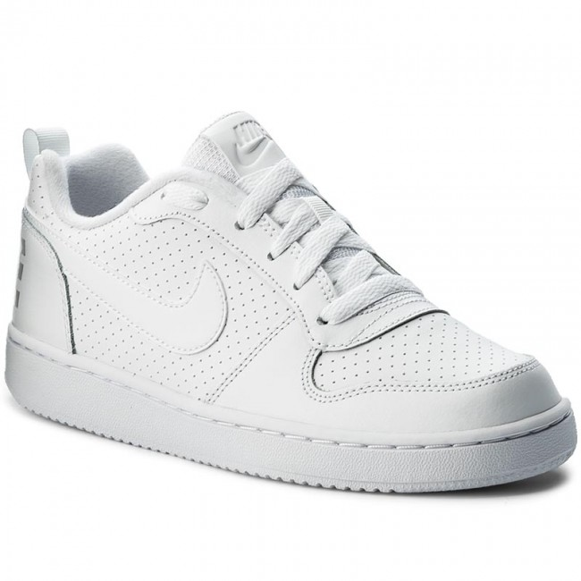 online store 7ce7d f76b0 Buty NIKE - Court Borough Low (GS) 839985 100 White/White/White ...