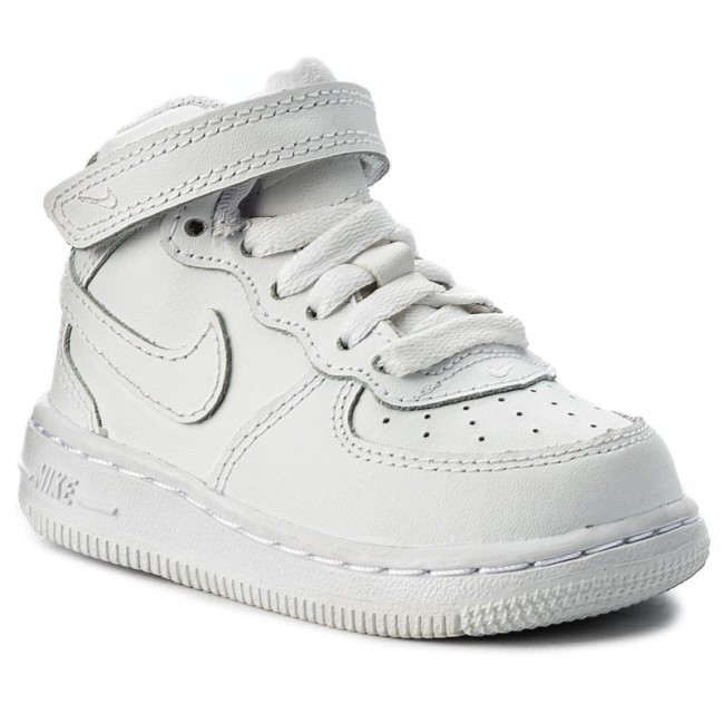 competitive price b8aa5 a9139 Buty NIKE - Force 1 Mid (Td) 314197 113 White White White
