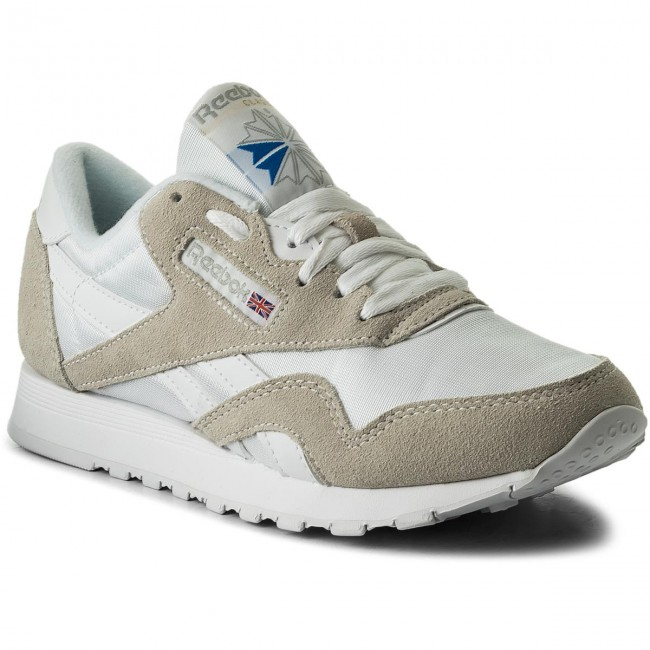 86ea97e3be8 Buty Reebok - Cl Nylon 6390 White Light Grey - Sneakersy - Półbuty ...