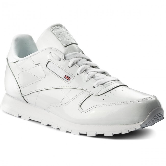 92b805e16fc55 Buty Reebok - Classic Leather Patent CN2063 White - Sneakersy ...