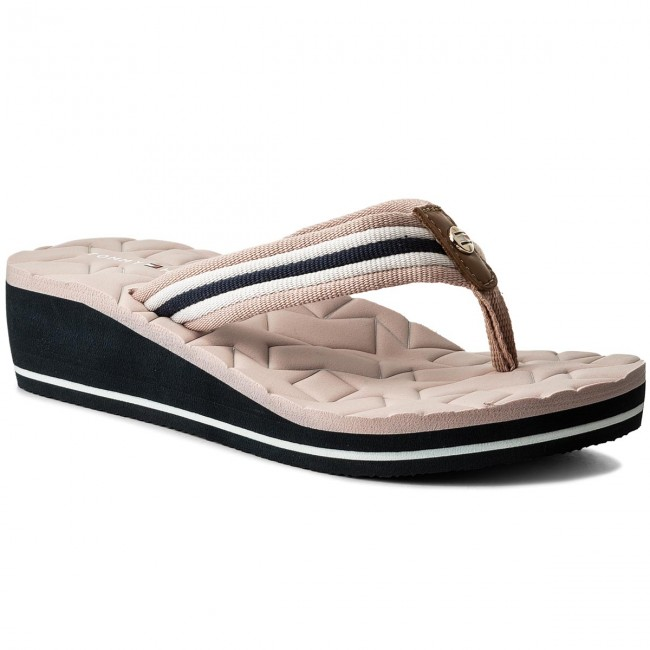 0e2930a353599 Japonki TOMMY HILFIGER - Comfort Mid Beach Sandal FW0FW02367 Dusty Rose 502