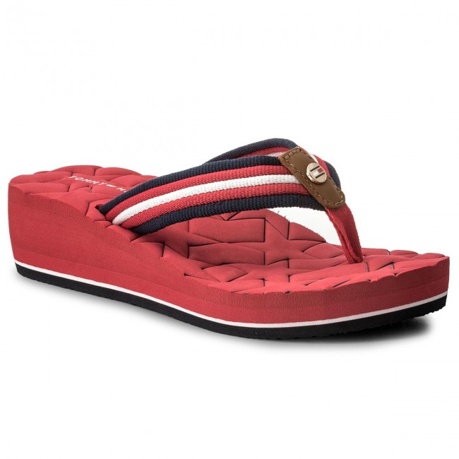 ca78cac39ad12 Japonki TOMMY HILFIGER - Comfort Mid Beach Sandal FW0FW02367 Tango Red 611