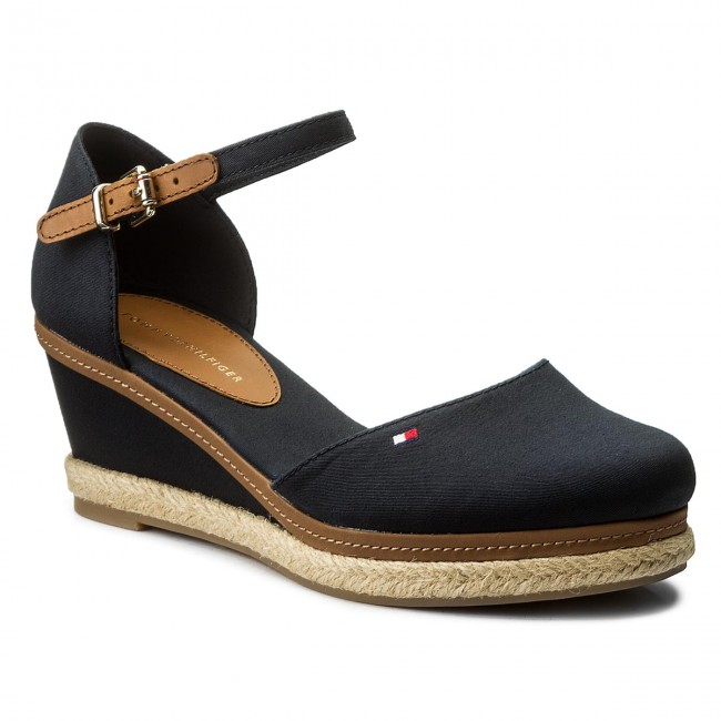 7bfbc911c1c73 Espadryle TOMMY HILFIGER - Iconic Elba Basic Closed Toe FW0FW02838 Midnight  403