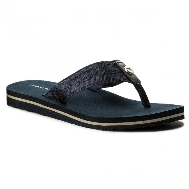 Japonki TOMMY HILFIGER - Jacquard Low Beach Sandal FW0FW02382 Midnight 403 7e128cd5a76