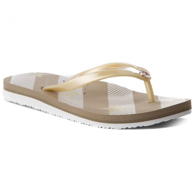 40e2336803be0 Japonki TOMMY HILFIGER - Stars And Stripes Beach Sandal FW0FW02384  Cobblestone 068
