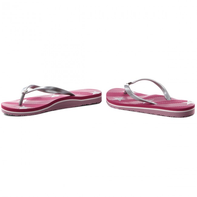 410fbb4f4197c Japonki TOMMY HILFIGER - Stars And Stripes Beach Sandal FW0FW02384 Bright  Rose 633
