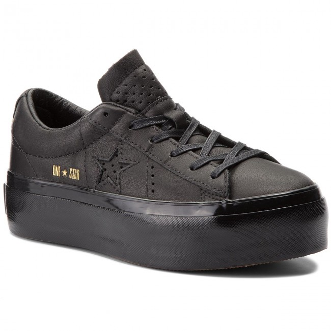 5eabc5bb2952 Sneakersy CONVERSE - One Star Platform Ox 559898C Black Black Black ...