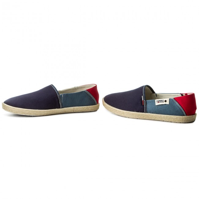 3f325d0ed6146 Espadryle TOMMY JEANS - Summer Slip On Shoe EM0EM00027 Ink Jeans Tango Red  902