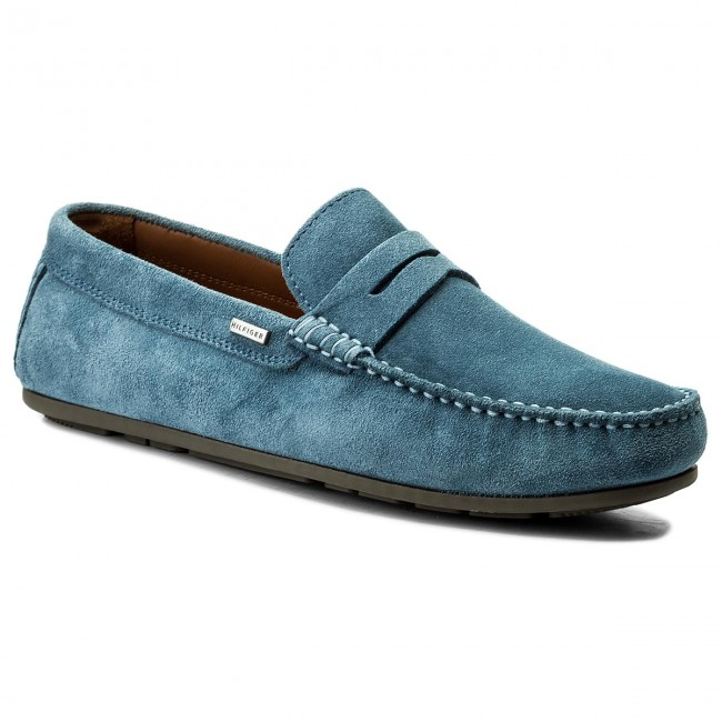 dfd80a4ea52e4 Mokasyny TOMMY HILFIGER - Classic Suede Penny Loafer FM0FM01168 Jeans 013