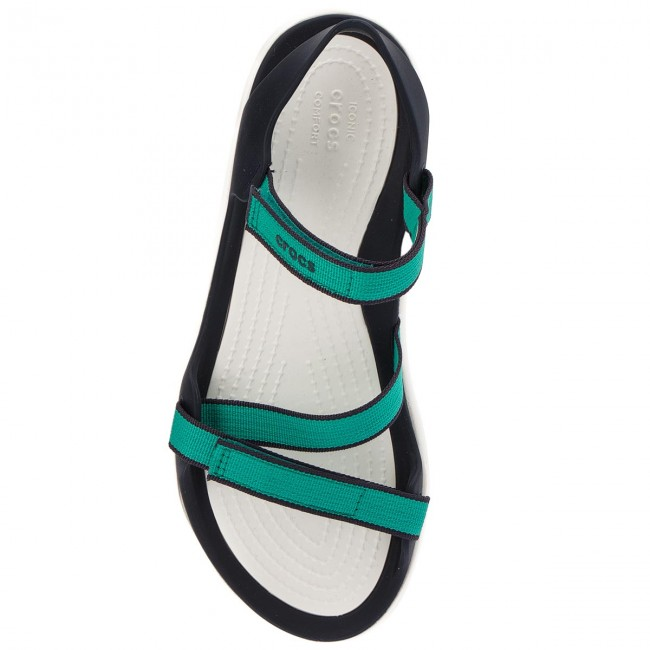 Sandały CROCS Swiftwater Webbing Sandal W 204804 Tropical Teal