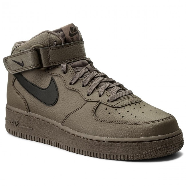 buty nike air force 1 mid 07 khaki/hyper blue