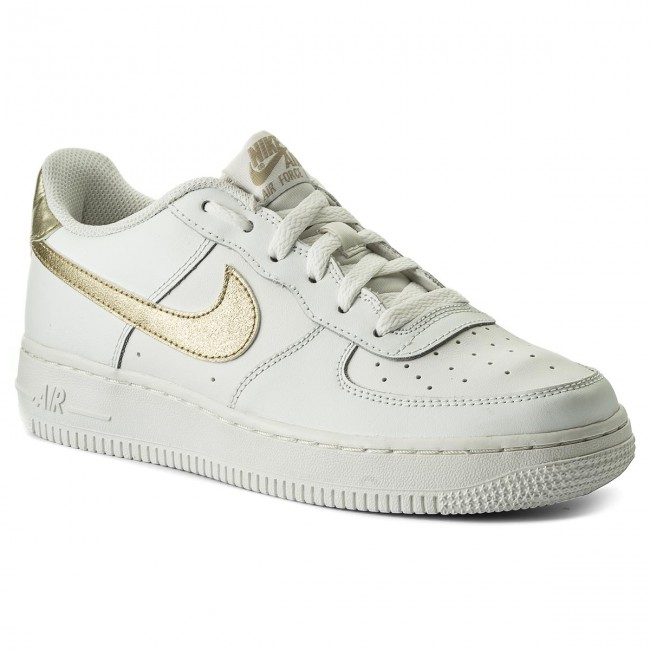 online store bf412 f98b9 Buty NIKE - Air Force 1 (GS) 314219 127 Summit White Mtlc Gold
