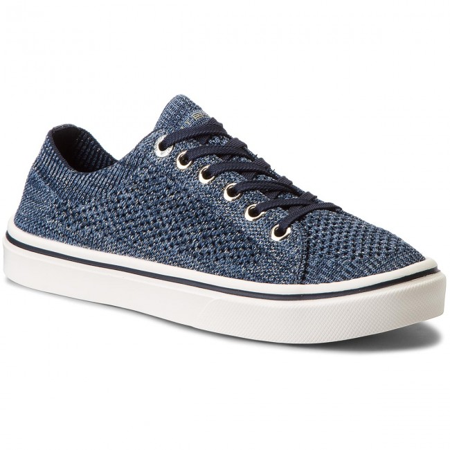 afba598031abf Tenisówki TOMMY HILFIGER - Knitted Light Weight Lace Up FW0FW03362 Midnight  403