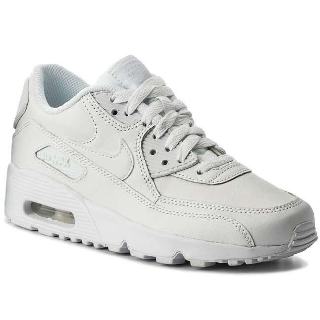 735942c88e31 Buty NIKE - Air Max 90 Ltr (GS) 833412 100 White White - Sneakersy ...