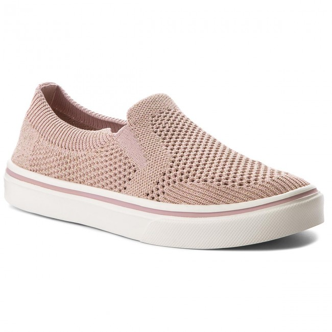 Tenisówki TOMMY HILFIGER - Knitted Light Weight Slip On FW0FW03361 Dusty  Rose 502 a3fe7632862