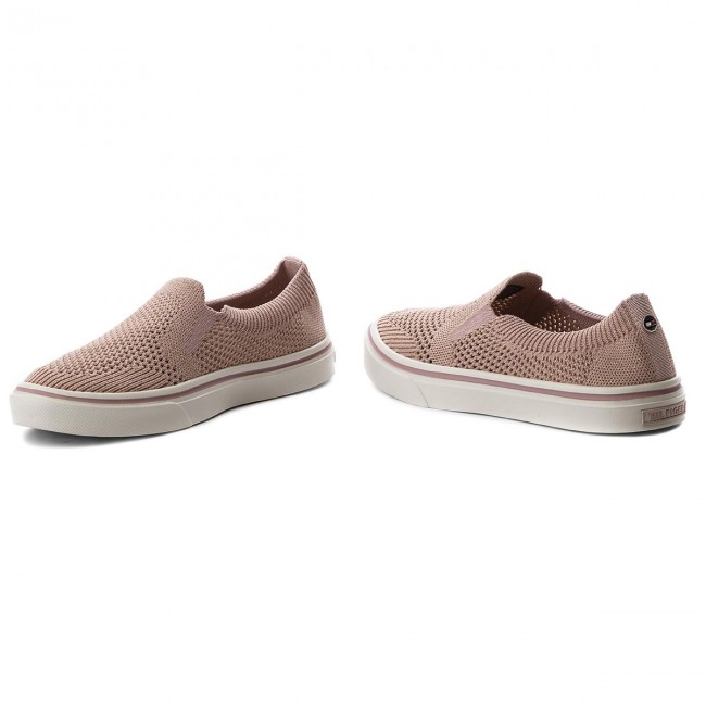 Tenisówki TOMMY HILFIGER - Knitted Light Weight Slip On FW0FW03361 Dusty  Rose 502 89e7cb20f1b