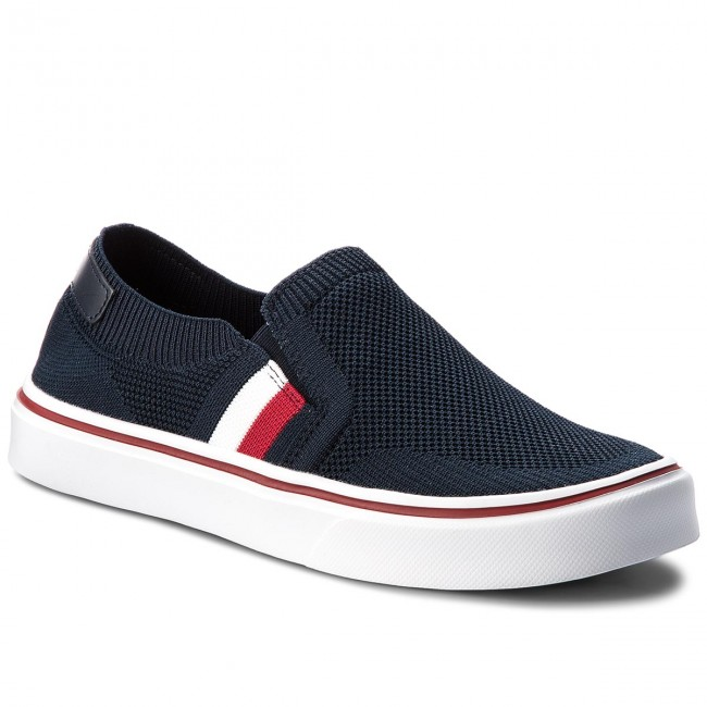 e4d0f718dec53 Tenisówki TOMMY HILFIGER - Lightweight Corporate Slip On FM0FM01634  Midnight 403