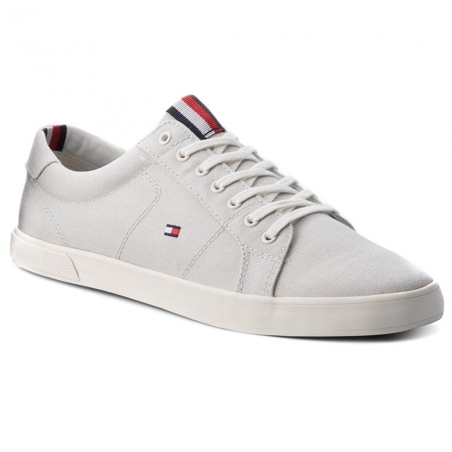 a4d67327602d5 Tenisówki TOMMY HILFIGER - Iconic Long Lace Sneaker FM0FM01669 Barely Blue  424