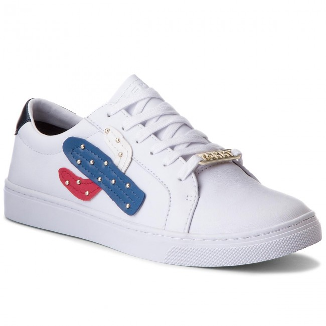 4c9616e807b67 Sneakersy TOMMY HILFIGER - Embelish Essential Sneaker FW0FW03388 White 100